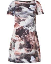 Carven Wave-Print Shift Dress - Lyst