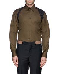 Alexander McQueen Contrast Harness Shirt green - Lyst