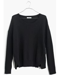 Madewell Texturemix Pullover Sweater - Lyst