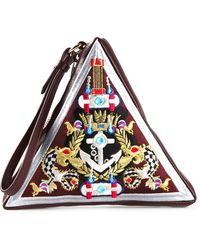 Mary Katrantzou Triangle Clutch - Lyst