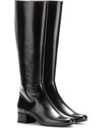 Saint Laurent   Babies Leather Knee Boots   Lyst