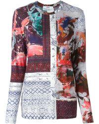 Prabal Gurung Printed Long Sleeve Tshirt - Lyst
