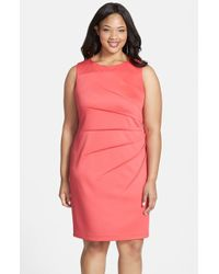 Calvin Klein Starburst Detail Sheath Dress - Lyst