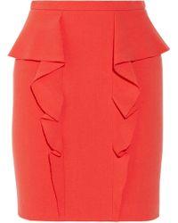 Emilio Pucci Ruffled Stretchwool Mini Skirt - Lyst