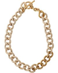 Michael Kors Cable Chain Collar Necklace gold - Lyst