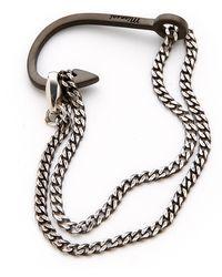 Miansai Hook On Chain Noir Bracelet - Lyst