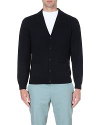 PS by Paul Smith Contrast-seam Wool Cardigan - For Men - Lyst