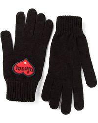 DIESEL - Logo Patch Gloves - Lyst