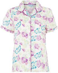 Dickins & Jones Evenlyn Vintage Floral Short Sleeve Pj Top - Lyst