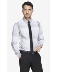 Express Modern Fit Checked Plaid Shirt - Lyst