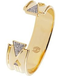 House Of Harlow Pave Accented Cuff Bracelet - Lyst