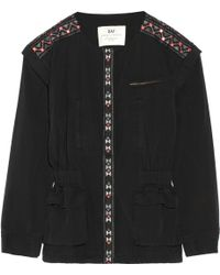 Day Birger Et Mikkelsen Monsoon Convertible Embroidered Washedcotton Jacket - Lyst