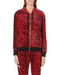 Juicy Couture Leopard Velour Hoody - Lyst