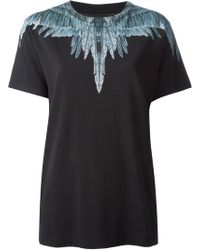 Marcelo Burlon County Of Milan Feather Print T-shirt - Lyst