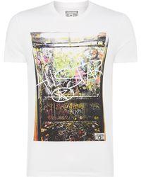 Converse Grafitti Print T Shirt - Lyst