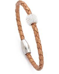 Liza Schwartz - Single Bedazzle Leather Bracelet - Lyst