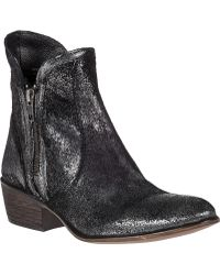 Steve Madden Zipstr Western Boot Pewter Leather silver - Lyst