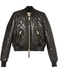 Burberry Brit - Quilted Leather Bomber Jacket - Lyst
