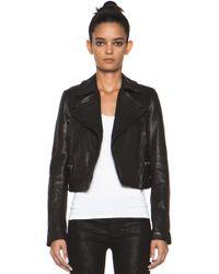 Proenza Schouler Leather Motorcycle Jacket in Black - Lyst