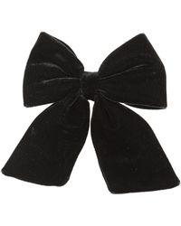 Topshop Velvet Hair Bow  Black - Lyst