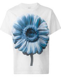 Diesel Flower-Print T-Shirt white - Lyst