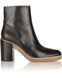 Alexander Wang Jourdan Leather Ankle Boots - Lyst