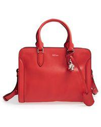 Alexander McQueen 'Small Padlock' Leather Duffel Bag - Lyst