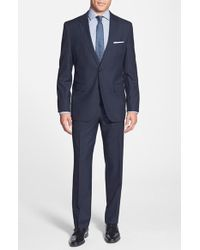 Hugo Boss 'James/Sharp' Trim Fit Wool Suit blue - Lyst