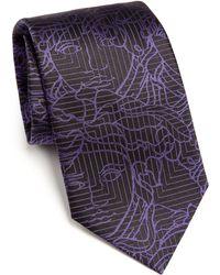 Versace   Medusa Grid Tie   Lyst
