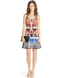 Dvf Perry Structured Flare Dress Diane von Furstenberg Ilsa