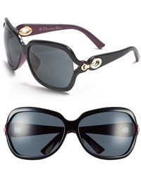 Dior Women'S 'Issimo' 63Mm Special Fit Sunglasses - Shiny Black - Lyst