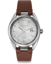 Givenchy Eleven Stainless Steel & Leather Strap Watch/Brown - Lyst