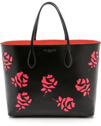 Rochas Cutout Roses Tote - Black - Lyst