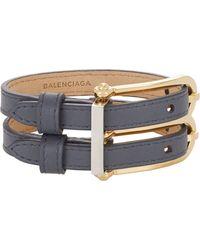 Balenciaga Gray B Bracelet - Lyst