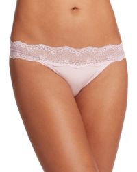 Le Mystere Perfect Pair Lace Bikini Briefs pink - Lyst