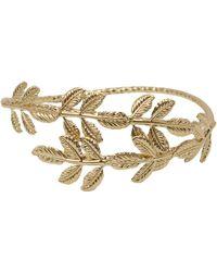 AKIRA - Bond Girl Arm Cuff - Gold - Lyst