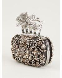 Alexander McQueen Kuncklebox Roses Clutch - Lyst