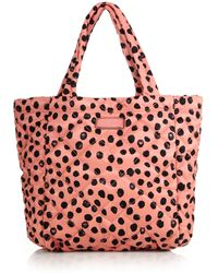 Marc By Marc Jacobs Crosby Two-Tone Spotted Quilted Nylon Tote - Lyst
