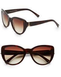 Nina Ricci - Cat's-eye Tortoise Plastic Sunglasses - Lyst