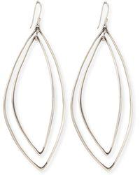 Alexis Bittar Fine - Marquise Light Silver Orbit Earrings - Lyst