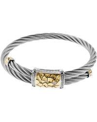 Charriol 18K Gold And Stainless Steel Diamond Bracelet - Lyst
