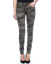 True Religion Halle Mid Rise Super Skinny Womens Camo Pant - Lyst