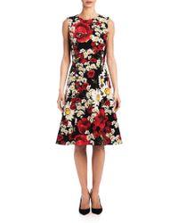 Dolce & Gabbana   Floral Button-front Dress   Lyst