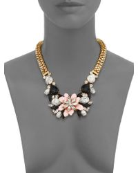 Kate Spade Glossy Petals Statement Bib Necklace multicolor - Lyst