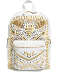 Ash - 'zuma' Studded & Beaded Leather Backpack - Lyst