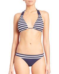 Shoshanna | Striped Halter Bikini Top | Lyst