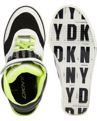 DKNY Active - Gracie Cut Out Leather Wedge Trainers - Lyst