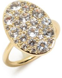 Elizabeth And James Constance Ring White Topazgold - Lyst
