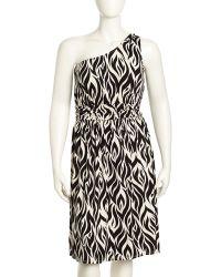 Rachel Pally Imara One Shoulder Jersey Dress Black Calico - Lyst