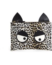 Rika Panther Print Friendly Monster Clutch - Lyst